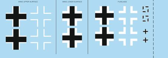 Bf 109G-2 national insignia 1 1/48