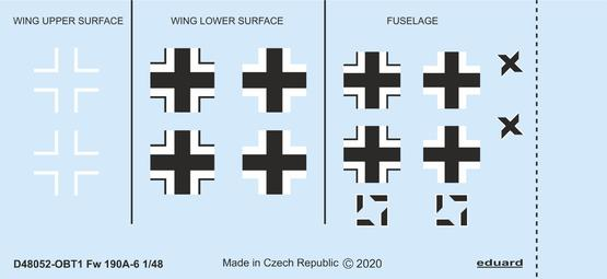 Fw 190A-6 national insignia 1/48