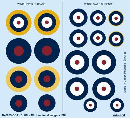 Spitfire Mk.I national insignia 1/48