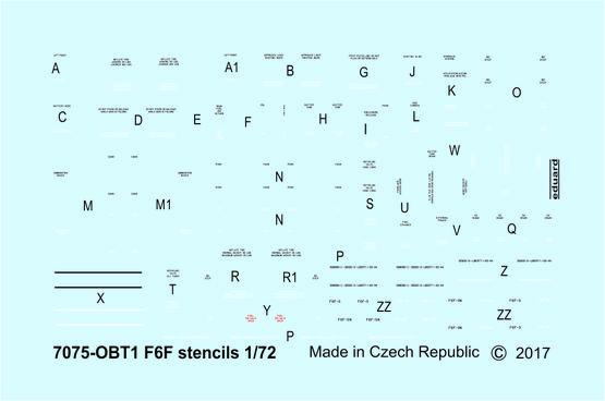F6F popisky 1/72