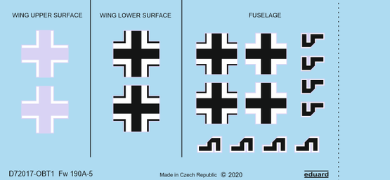 Fw 190A-5 national insignia 1/72