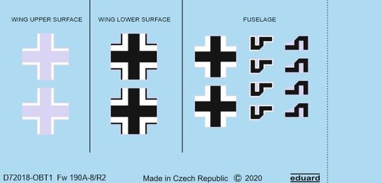 Fw 190A-8/R2 national insignia 1/72