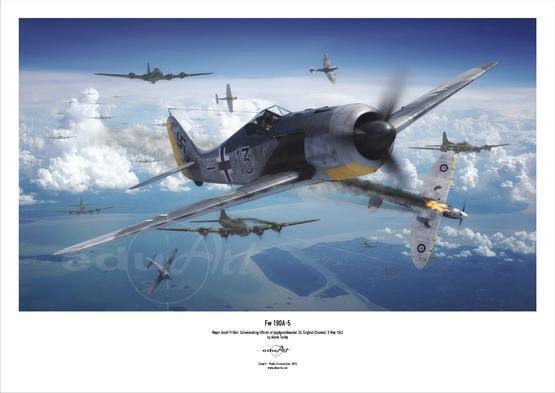 Плакат - Fw 190A-5 lлёгкий истребитель