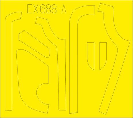 B-17G panely proti oslnění  (výroba VE) 1/48  - 1