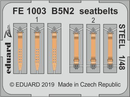 B5N2 seatbelts STEEL 1/48