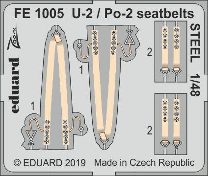 U-2 / Po-2 seatbelts STEEL 1/48