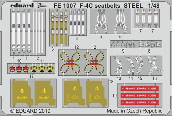 F-4C seatbelts STEEL 1/48