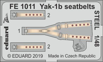 Yak-1b シートベルト スチール製 1/48