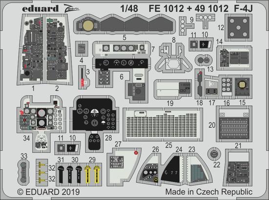 F-4J интерьер 1/48  - 1