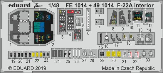 F-22A 内装 1/48  - 1