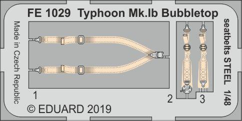 Typhoon Mk.Ib Bubbletop seatbelts STEEL 1/48