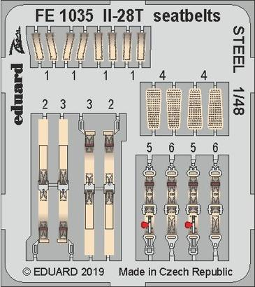 Il-28T seatbelts STEEL 1/48