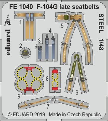 F-104G late seatbelts STEEL 1/48