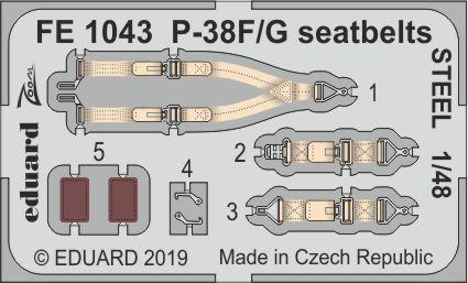 P-38F/G upínací pásy pozdní verze OCEL 1/48
