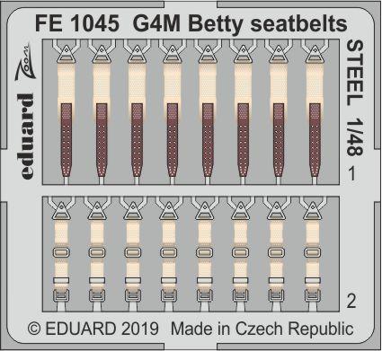 G4M Betty seatbelts STEEL 1/48