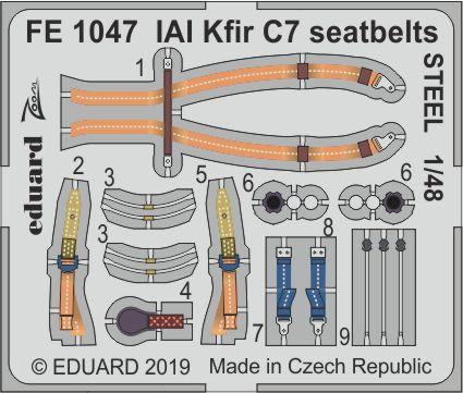 IAI Kfir C7 seatbelts STEEL 1/48