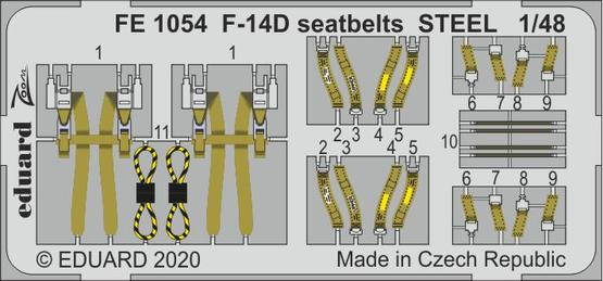 F-14D seatbelts STEEL 1/48
