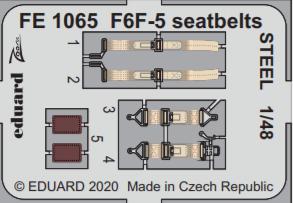 F6F-5 seatbelts STEEL 1/48
