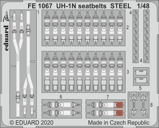 UH-1N seatbelts STEEL 1/48