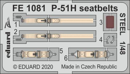 P-51H seatbelts STEEL 1/48