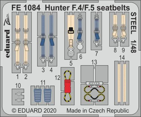 Hunter F.4/F.5 seatbelts STEEL 1/48