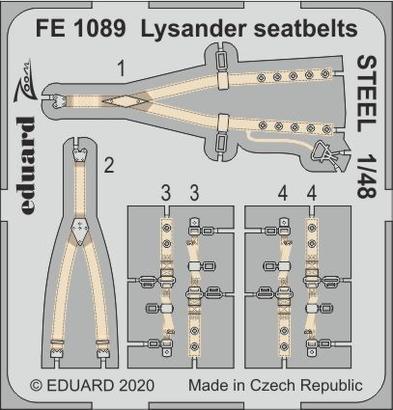 Lysander seatbelts STEEL 1/48