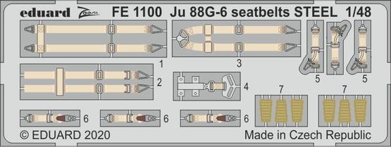 Ju 88G-6 seatbelts STEEL 1/48