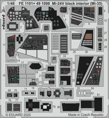 Mi-24 interior black (Mi-35) 1/48  - 1