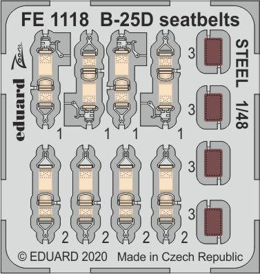 B-25D seatbelts STEEL 1/48