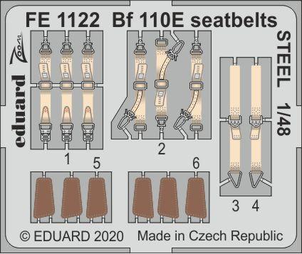 Bf 110E seatbelts STEEL 1/48