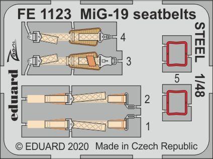 MiG-19 seatbelts STEEL 1/48