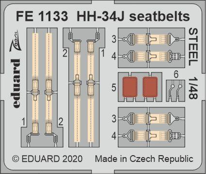 HH-34J seatbelts STEEL 1/48