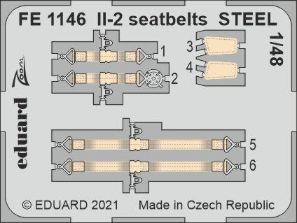 Il-2 seatbelts STEEL 1/48