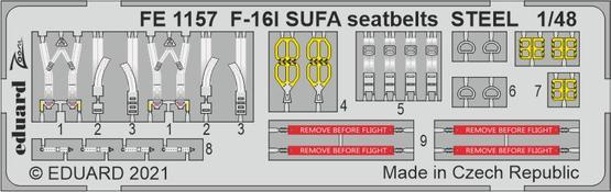 F-16I SUFA seatbelts STEEL 1/48