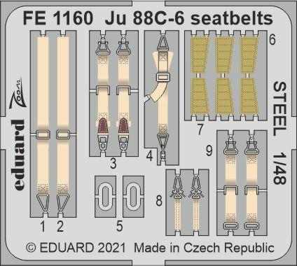 Ju 88C-6 seatbelts STEEL 1/48