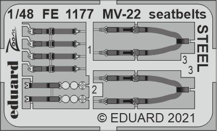 MV-22 seatbelts STEEL 1/48