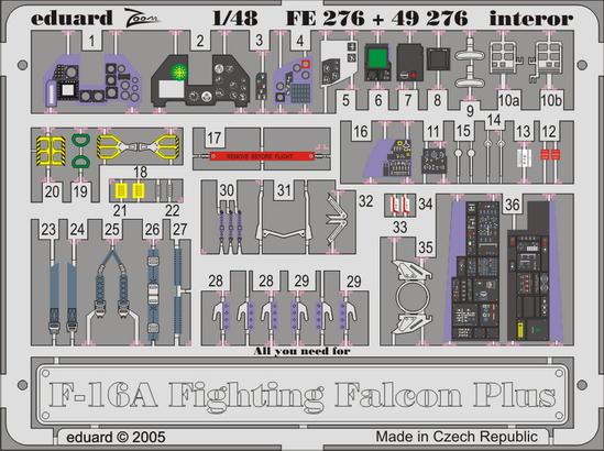 F-16A  Plus интерьер 1/48