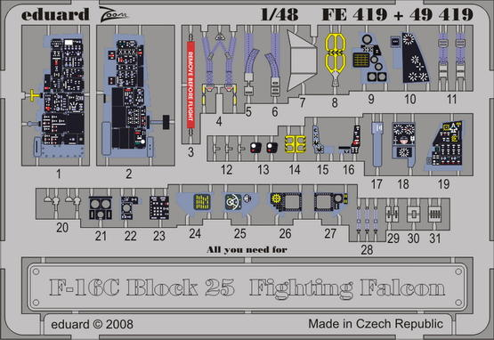 F-16C Block 25 S.A. 1/48