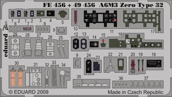 A6M3 Zero Type 32 S.A. 1/48