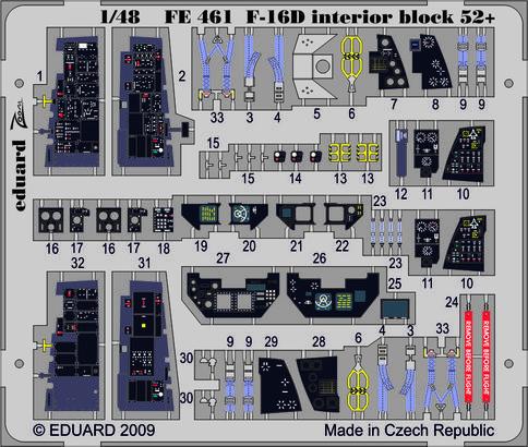 F-16D Block 52+ S.A. 1/48  - 1