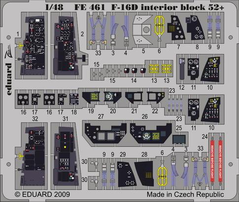 F-16D Block 52+ interior S.A. 1/48