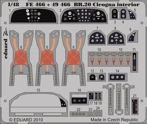 BR.20 Cicogna interior S.A. 1/48