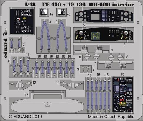 HH-60H interior S.A. 1/48