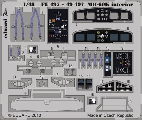 MH-60K interior S.A. 1/48