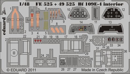 Bf 109E-4 interior S.A. 1/48
