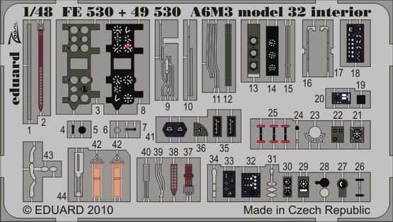 A6M3 model 32 interior S.A. 1/48