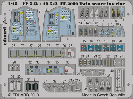 EF-2000 Two-seater interior S.A. 1/48