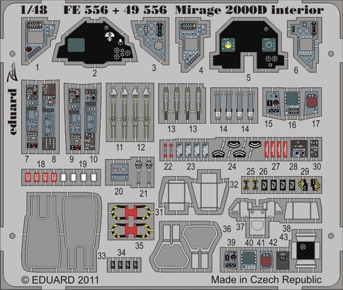 Mirage 2000D interior S.A. 1/48