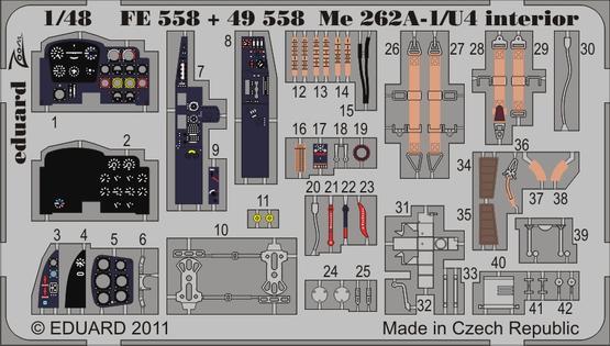 Me 262A-1/U4 interior S.A. 1/48