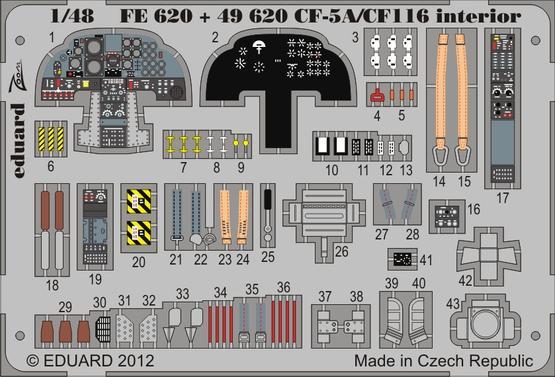 CF-5A/CF-116 interior S.A. 1/48
